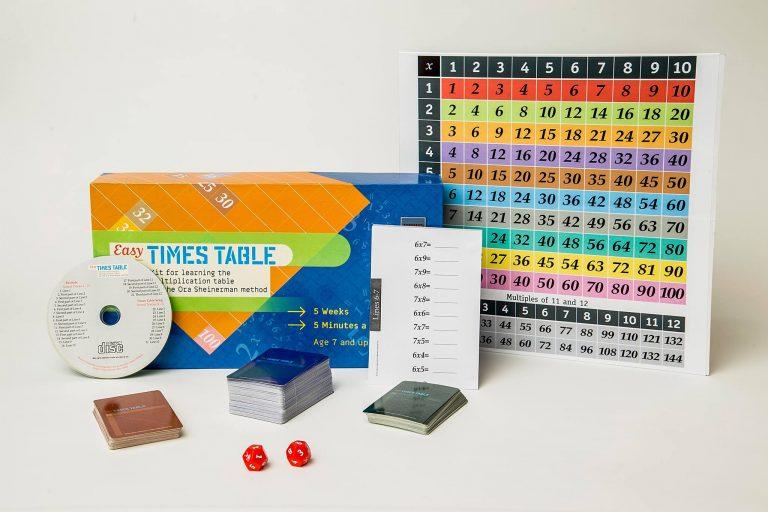 ערכת לוח הכפל –Easy Times Table