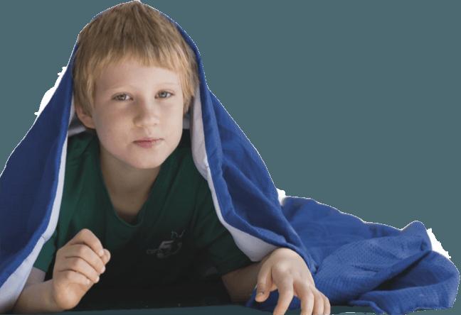 שמיכה כבדה לטיפול ברגישות חושית CuddleMe