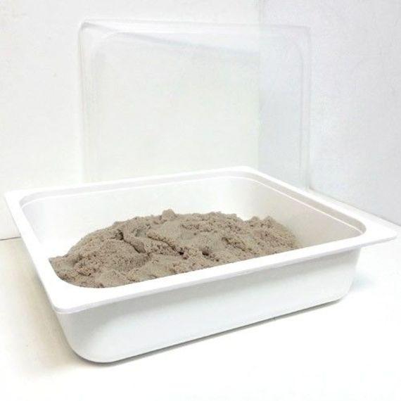 מגש עם מכסה לאחסון חול קינטי