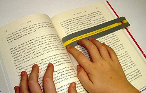 סט סרגלים מדגיש שורה למיקוד ראיה וקריאה