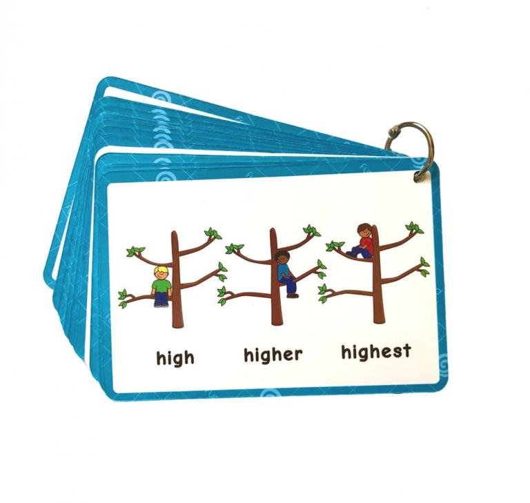 קלפים באנגלית ללימוד דרגות השוואה
