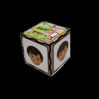 קובי קוביית החוויות משחק רגשות מגנטי