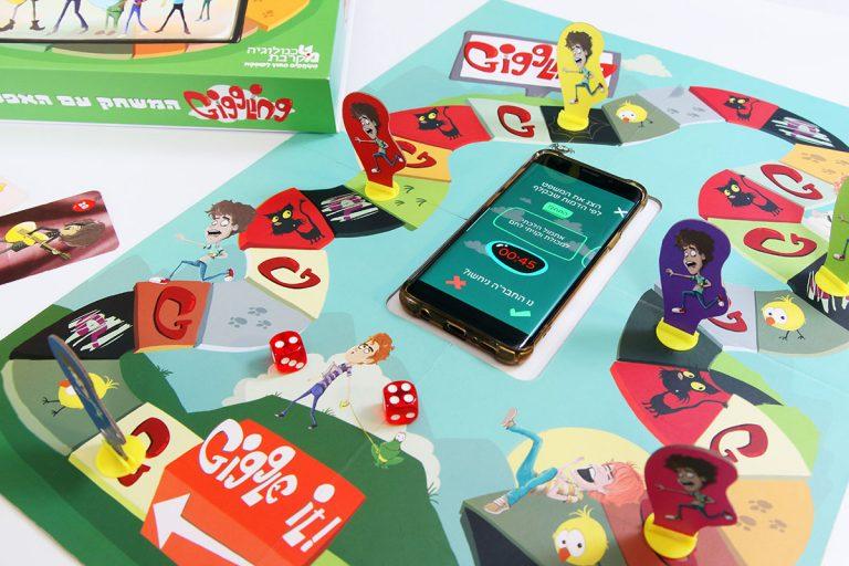 גיגלינג משחק קופסה ואפליקציה Giggling