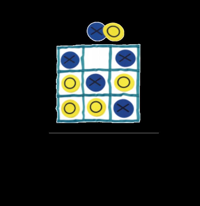 איקס עיגול משחק רצפה בגודל מטר על מטר