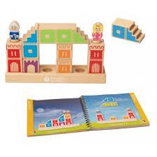 הטירה אתגר חשיבה של קוביות ומגדלים