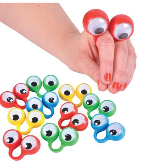 בובת אצבעות עיניים 10 יחידות