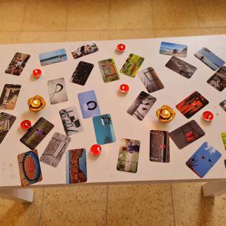 נדנדת ליבי קלפים להתבוננות בערבית